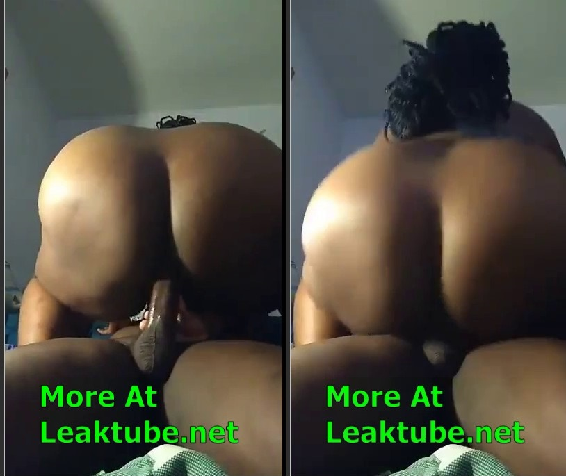 Big Ass Lady Record Herself While Satisfying Her Client Leak