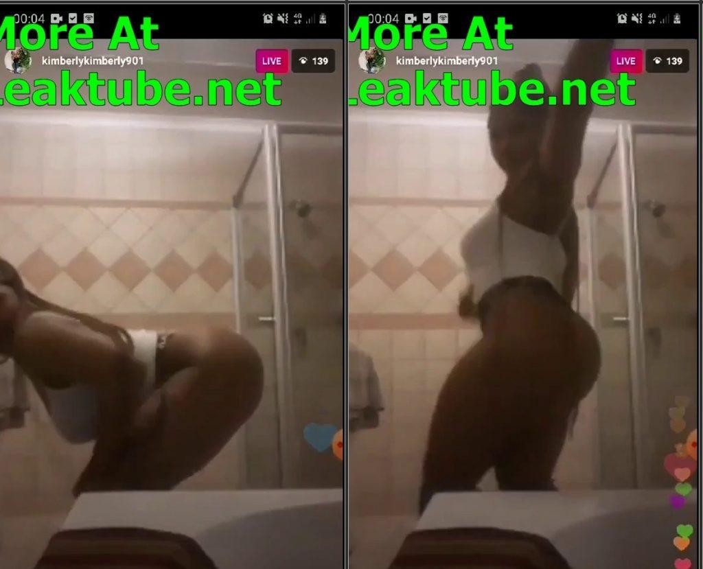 LIVESHOWS Big Booty @kimberlykimberly901 Stripping Naked Live on IG Leak